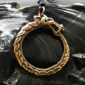 Pandantiv bronz sarpe Ouroboros