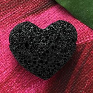 Pandantiv inima din piatra semipretioasa Piatra Vulcanica 30mm