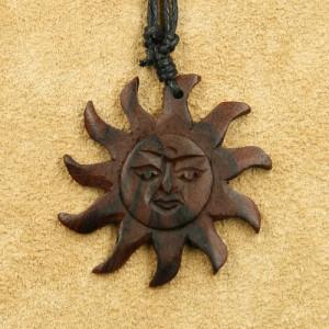 Pandantiv lemn Soare