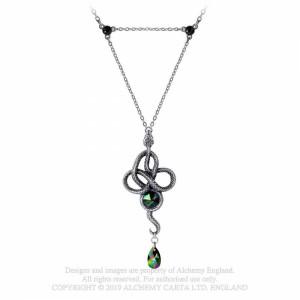 Pandantiv sarpe incolacit, cristal verde, Tercia