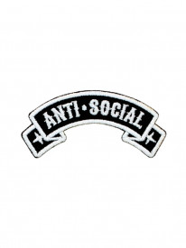 Petic textil decorativ / Patch brodat Anti-Social