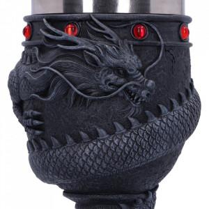 Pocal Dragon încolăcit 19 cm