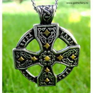 Runic Celtic Cross Pendant