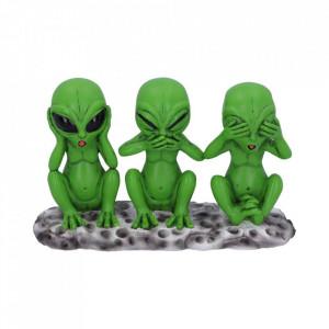 Set 3 statuete Trei Marțieni intelepti 16 cm
