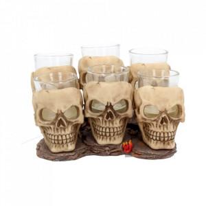Set pahare shot cu craniu 10 cm
