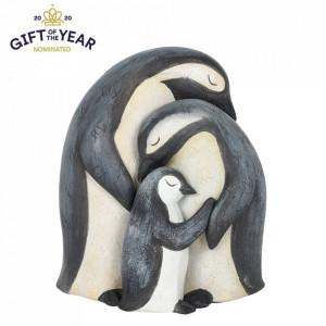 Set statuete Familia de Pinguini - mami, tati si copil