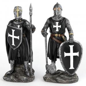 Statuetă Cavaler medieval negru 18cm