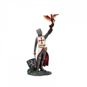 Statueta cavaler Templier cu dragon 12 cm