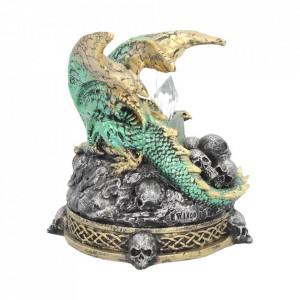 Statueta dragon cu led Cripta cu cristale 11.5 cm