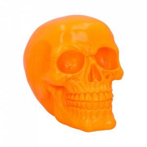 Statueta fosforescenta craniu Psychedelic - portocaliu 15.5 cm