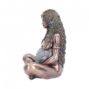 Statueta Mama Pamant finisaj bronz 30 cm