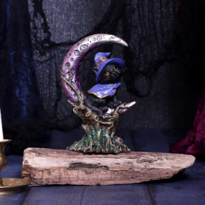 Statueta Pisicuta pe luna - Grimalkin18.5 cm