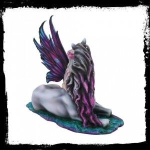 Statueta zana si unicorn Evania 40 cm