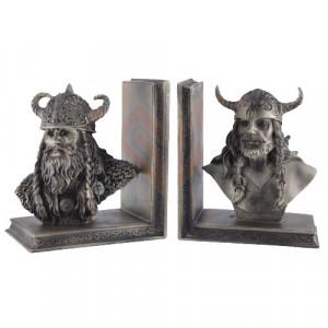 Suport lateral de carti - book end - Razboinici vikingi 15cm