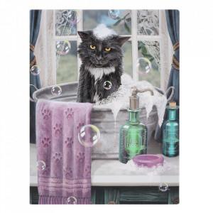 Tablou canvas, E timpul pentru baie, 19x25cm - Lisa Parker