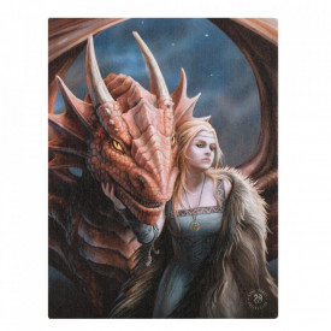 Tablou canvas Friend or Foe, 19x25cm - Anne Stokes