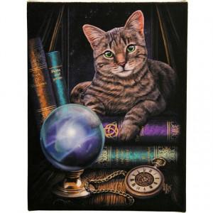Tablou canvas pisica Ghicitoarea 19x25cm - Lisa Parker