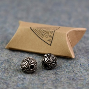 Viking Jewelry for beard/hair - Spiral