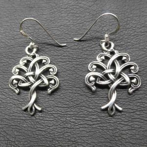 Cercei argint Arborele vietii