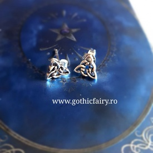 Cercei argint Nod celtic O520