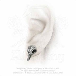 Cercei craniu de corb Rabeschadel