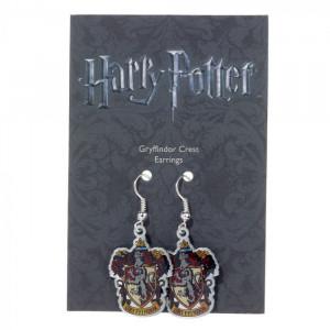 Cercei placati argint licenta Harry Potter Casa Gryffindor