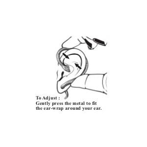 Cercel tip ear cuff Șoapta dragonului negru