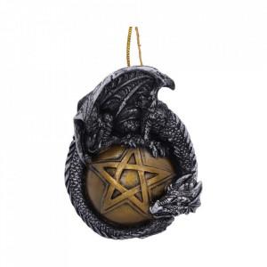 Decoratiune cu agatatoare dragon pe pentagrama Caspar - 8,9cm