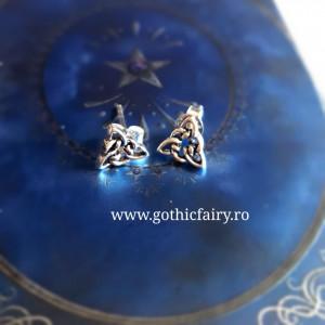 """etNox - earstuds """"Celtic Knot"""" 925 silver"""