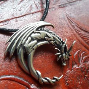 """etNox-pendant """"Fantasy Dragon"""" 925 silver"""