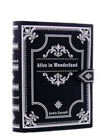 Gothic lolita handbag, Black book Lewis Carroll Alice in Wonderland