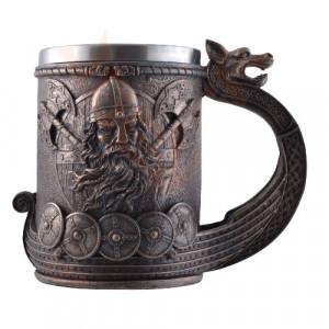 Halba viking Drakkar - bronz