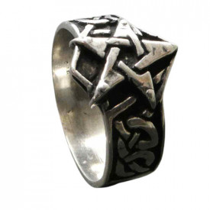 Inel argint Pentgrama