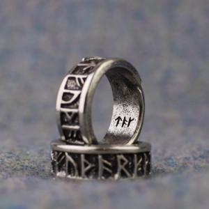 Inel viking cu rune