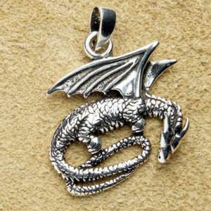 Pandantiv argint Dragon 3.5cm