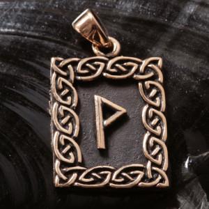 Pandantiv bronz runa Wunjo