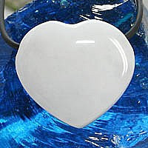 Pandantiv inima din piatra semipretioasa Quartz Alb