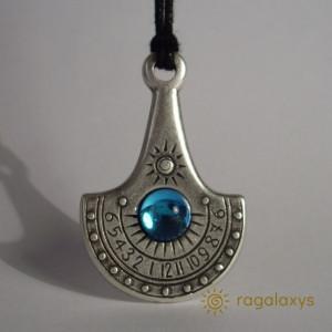 Pandantiv placat argint cu ceas solar fluviu Nil