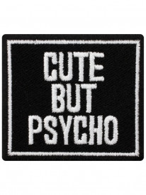 Petic textil decorativ / Patch brodat Cute But Psycho