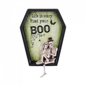 Placheta decorativa pentru perete Life is Scary Find Your Boo