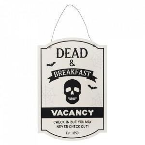 Placuta decorativa lemn Dead & Breakfast