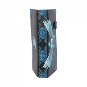 Portofel embosat bufnita alba Descopera magia 18.5 cm