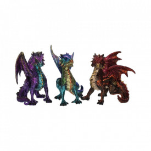 Set 3 statuete dragoni Gasca cu solzi