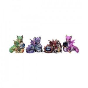 Set 4 statuete dragonei Comorile Puilor 6 cm