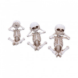 Set statuete Trei schelete intelepte Skellywags 13 cm