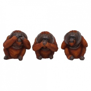 Set statuete Trei urangutani intelepti 10.5 cm