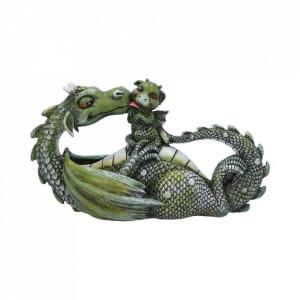 Statueta dragon cu pui Cel mai dulce moment (verde)