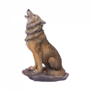 Statueta lup Strigatul muntelui 20 cm