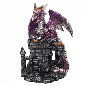 Suport conuri tamaie backflow Dragon pe Castel - violet
