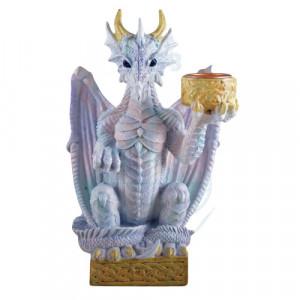 Suport lumanare cu dragon Pastratorul luminii 16cm